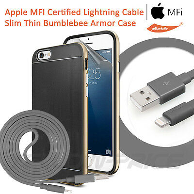 3 in 1 Apple iPhone 6 Plus Licenced Lightning to USB Cable+ Protective Case+Film