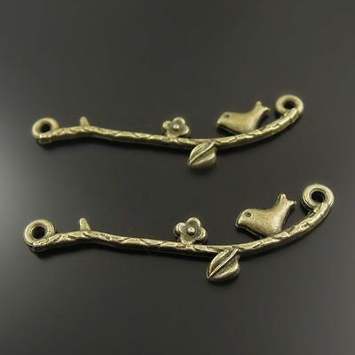 70pcs Antique Style Bronze Tone Alloy Bird Connector Charm Finding Hot 38388