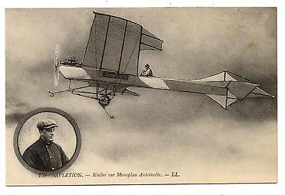 Aviation.kuller Sur Monoplan Antoinette.avion.plane.