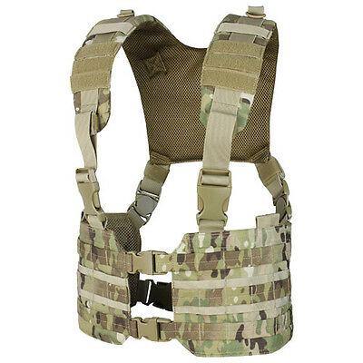 Condor Ronin Chest Rig Army Vest Tactical Carrier Airsoft Molle Webbing Multicam
