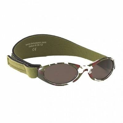 Baby Banz CAMO GREEN Sunglasses 100% UV Protection Boy Girl 2-5 Year #0956 Value