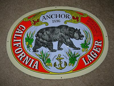 ANCHOR BREWING promo METAL TACKER SIGN craft beer brewery CALIFORNIA LAGER
