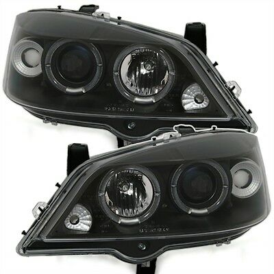 Phares Feux Av Angel Eyes Noir Opel Astra G 1998-2004 2.0 16S Turbo Bertone