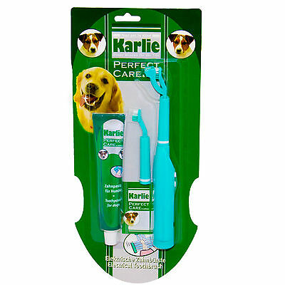Karlie Perfect Care Electrical Dog Toothbrush Brush Pet Toothpaste Value 693216