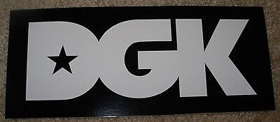 "DGK Logo Skate Sticker SUCKA FREE all day 4X2.25/"" skateboards helmets decal"