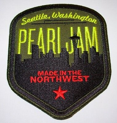 PEARL JAM Patch SEATTLE SKYLINE New 4 inch from bolt tour cd lp