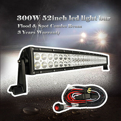 Off Road 52 inch Jeep LED Work Light Bar Curved ATV UTE SUV 4WD Truck Jeep 50/54