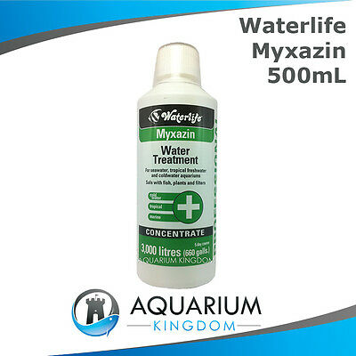 Waterlife Myxazin 500mL Professional Fish Medication - Treats Fin Rot & Ulcers