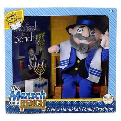 Mensch on a Bench Hanukkah Decor w/ Hardcover Book & Removable Bench Hard To Fin