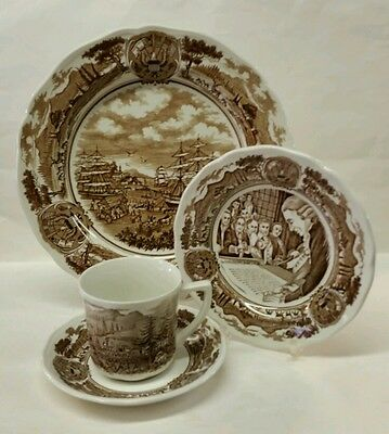 "J. & G. MEAKIN ""AMERICAN LEGEND"" 4 PC. PLACE SETTING - DINNER/DESSERT/CUP/SAUCER"