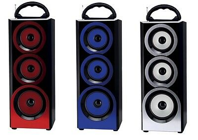 Altavoces Con Bluetooth Altavoz Portatil Recargable Colores Sd Usb Aux Radio