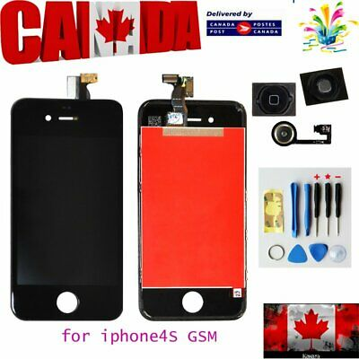 Replacement LCD Touch Screen Digitizer Glass for iPhone 4S Black +free gift