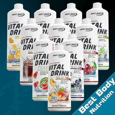 Best Body Nutrition Low Carb Vital Drink Mineraldrink Getränkesirup 1 Ltr. Fl.