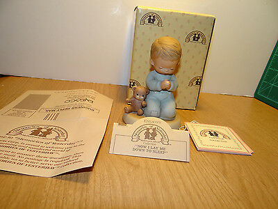 Memories Of Yesterday NOW I LAY ME DOWN TO SLEEP Porcelain Figurine 114499 Boy