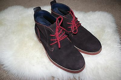 Cole Haan Mens Air Charles Chukka Lace-Up Ankle Boots Suede Brown Size 8