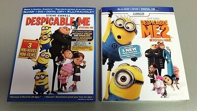 Despicable me + Despicable me 2 (Bilingual) [Blu-ray + DVD] -BRAND NEW (BR56a/3)