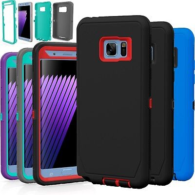 For Samsung Galaxy Note 4 5 TPU Shockproof Hybrid Hard Rugged Cover Case