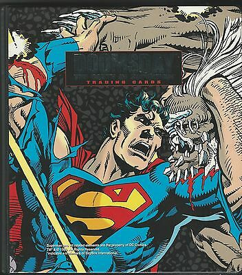 Death & return of Superman complete card sets & Binder & all chase cards & extra
