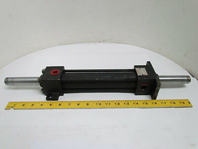 """Hennells Hydraulic Cylinder 1-1/2"""" Bore 7"""" Stroke Double Rod 1500PSI"""