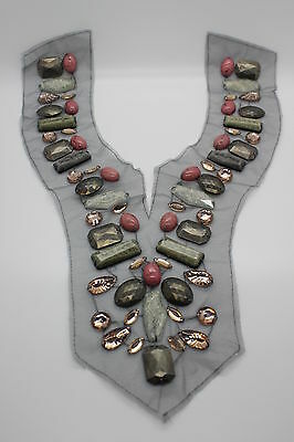 Grey Sew on Collar Lace Vintage Style Guipure Embroidered Tulle On Appliques Mot
