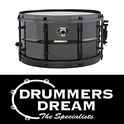 "Brand New Ludwig Black Magic 13x 7"" Black Nickel Over Brass Snare Drum RRP $799"