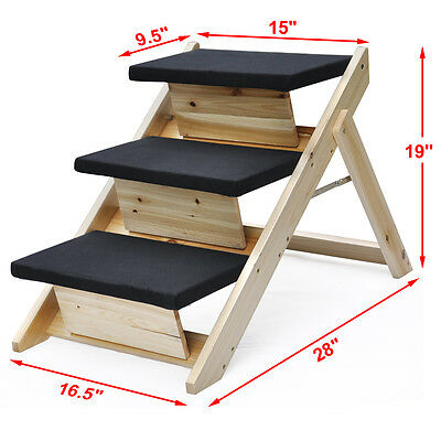 Indoor or Outdoor Folding Portable Pet Stairs , Cat Dog Ramp Steps, New