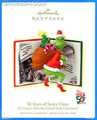 50 Years of Santy Claus Dr. Seuss's How the Grinch Stole Christmas Hallmark 2007