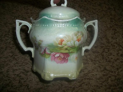 Vintage Antique Water Lily Sugar Hand Painting Germany Numbered