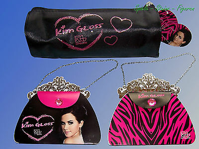 Kim Gloss Federtasche o. Notizblock in Handtasche Form, Schlamperrolle Faulenzer
