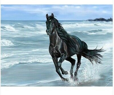 MODERN ABSTRACT HUGE WALL ART OIL PAINTING ON CANVAS -HORSE(NO FRAME)