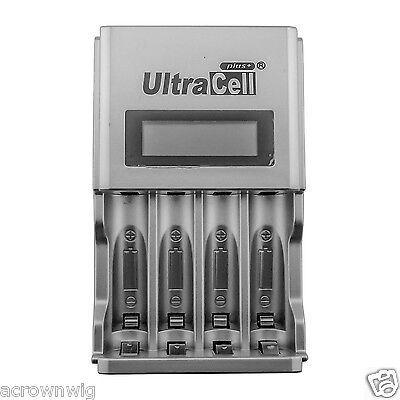 4 Slot LCD Smart Battery Charger For Ni-MH Ni-CD AA AAA Rechargeable Battery
