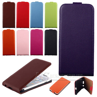 Uoyo / Leather Up And Down Open Flip Pouch Cell Phone Hard Protector Case Cover