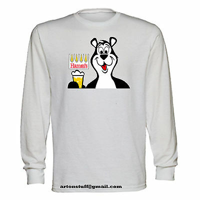 Hamm's bear beer vintage long sleeve t-shirt blast from the past