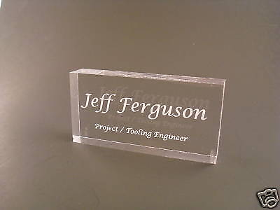 Mini Acrylic Name Plate Desk Bar Personalized Nameplate