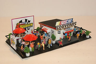 NASCAR THUNDER SOUVENIR STAND great for LAYOUTS with SLOT CAR GRANDSTANDS !!!.