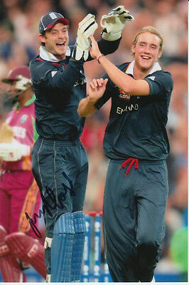 England Hand Signed James Foster 6X4 Photo Cricket.
