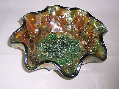 Imperial - Teal, Heavy Grape Pattern Carnival Bowl