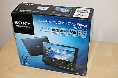 """Sony BDP-SX910 Portable DVD Bluray Disc Player with Screen (9"""")"""