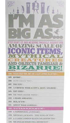 I'm as Big as Celebrity Fun Facts Comparison Height Wall Chart Iconic Mythical