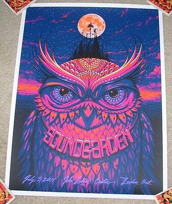 SOUNDGARDEN concert gig tour poster print LONDON Ontario 7-3-11 2011 Jeff Soto