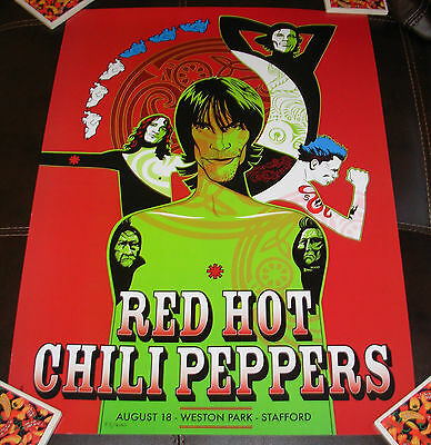 RED HOT CHILI PEPPERS concert gig poster print STAFFORD 8-18-01 2001