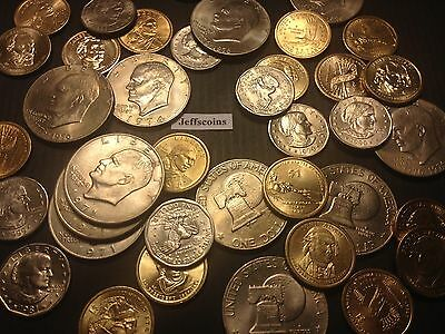 ☆US Dollar Coins Estate Lot☆ Sacagawea Anthony Presidential Eisenhower + Silver☆