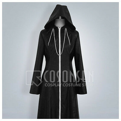 Cosonsen Kingdom Hearts 2 Organization XIII Cosplay Costume Long Coat All Size