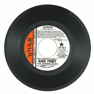 HANK PENNY The Strong Black Man/Little Red Wagon 7IN (PROMO) 1970 NM- LISTEN!!!!