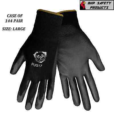 Global Glove Pug17-L Polyurethane Pu Coated Work Gloves Size Large (144 Pair)