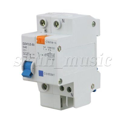 DZ47LE-63 1P+N C40 40A 230V Earth Leakage Protection Circuit Breaker