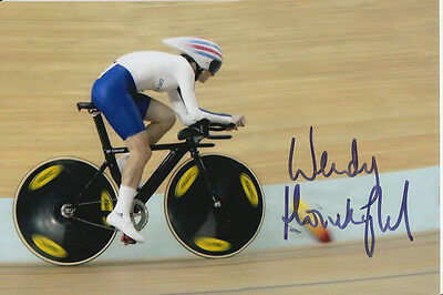Wendy Houvenaghel Hand Signed Great Britain 6X4 Photo Beijing 2008 5.