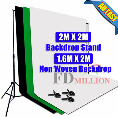 Photo Video Backdrop in Lighting Studio Equipment Pro Softbox Light Boom Arm Kit