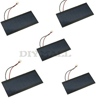 5pcs 5V 100mA Polycrystalline PET Solar Power Cell Pannel PCB board