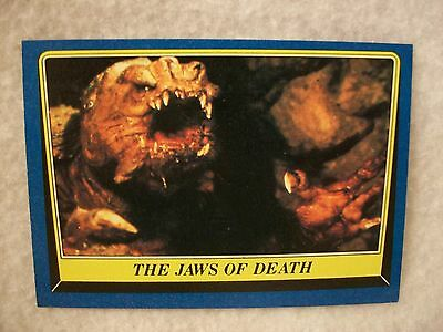 Vintage Star Wars Return of the Jedi Series 2 Card # 156 The Jaws Of Death